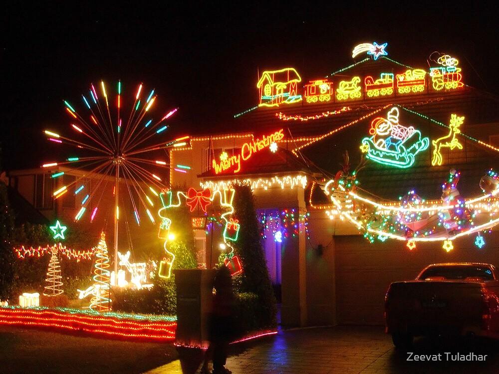 Christmas lights by Zeevat Tuladhar
