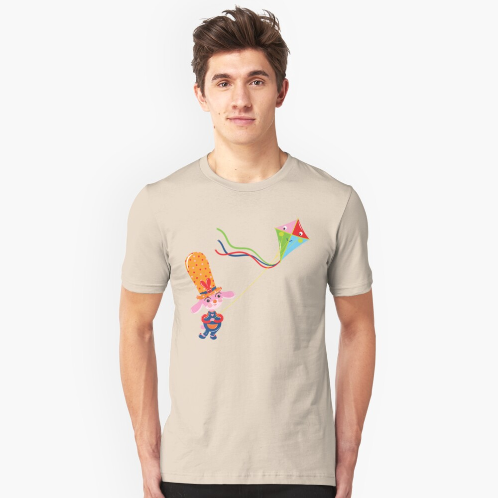 Bunny with Kite Unisex T-Shirt Front