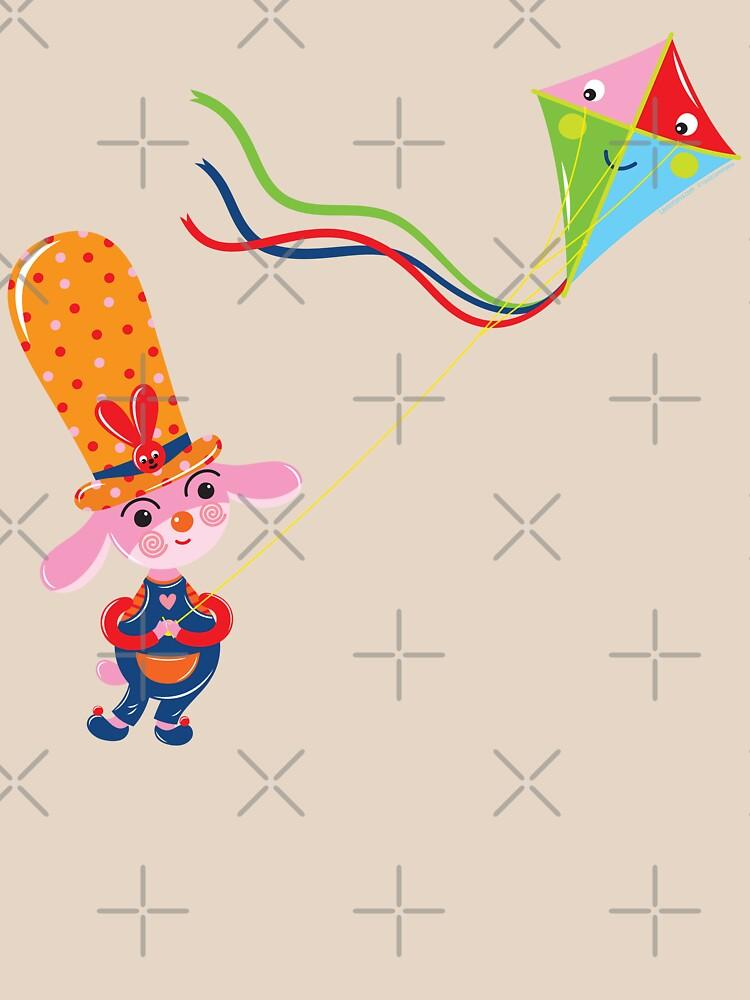 Bunny with Kite by Lyuda