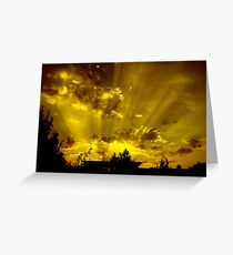 harrow sunset Greeting Card