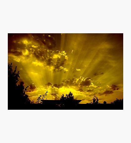 harrow sunset Photographic Print