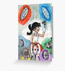 Chell and Friends Greeting Card