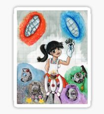 Chell and Friends Sticker