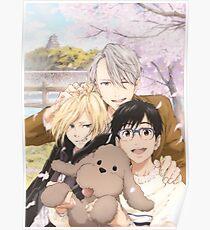 Spring: Yurio, Yuuri and Victor Poster