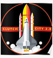 Rocket Space Shuttle Houston Clutch City 2.0  Poster