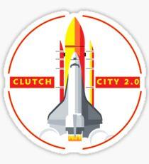 Rocket Space Shuttle Houston Clutch City 2.0  Sticker