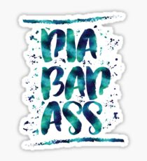 Diabadass - diabetes diabetic t1d type 1 watercolor blue Sticker