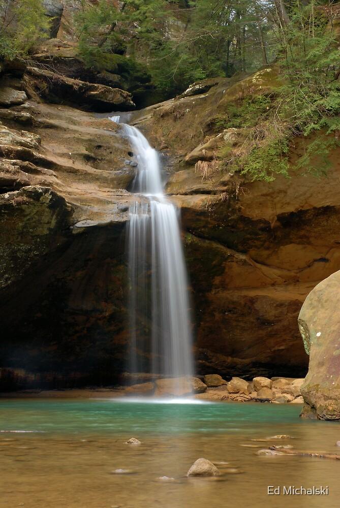 The upper falls by Ed Michalski