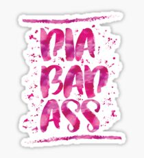 Diabadass - diabetes diabetic t1d type 1 watercolor pink Sticker