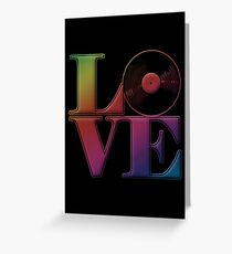 Vinyl Love Greeting Card
