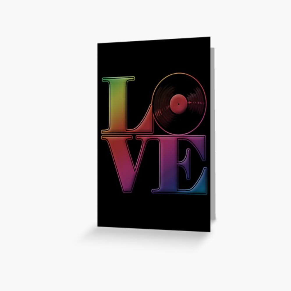 Vinyl Liebe Grußkarte