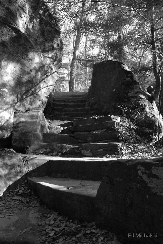 The fall stairs by Ed Michalski