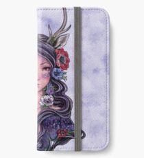 Dark Faun Girl with Flowers iPhone Wallet/Case/Skin