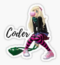 Coder girl bubble gum Sticker