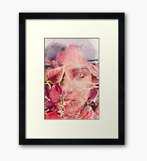 beneath the leaf Framed Print