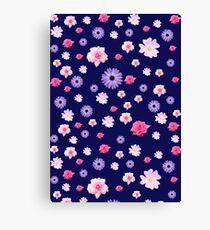 Mixed Roses and Other Flowers Canvas Print