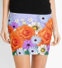 Orange Rose Mini Skirt