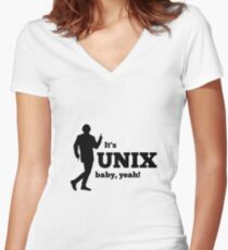 It is a unix baby Women's Fitted V-Neck T-Shirt