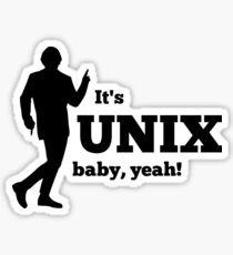 It is a unix baby Sticker