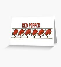 Red Peppers on Parade Greeting Card