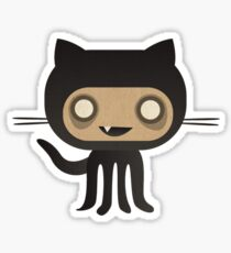 Zombie Octo Cat Sticker