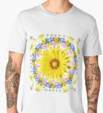 Yellow Everlastings with other Wildflowers Men's Premium T-Shirt