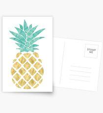Goldene Ananas Postkarten