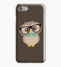 Cute Hipster Owl iPhone Case/Skin
