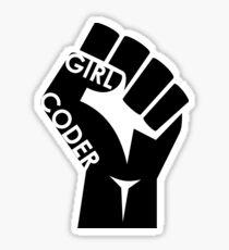 Girl Coder Sticker