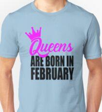 Camiseta unisex reinas nacen en febrero