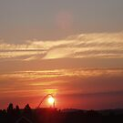 Sunset over Wembley Stadium 2 by Lindymrb