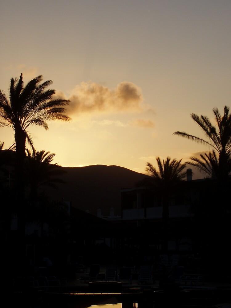 Sunset Lanzarote by Lindymrb