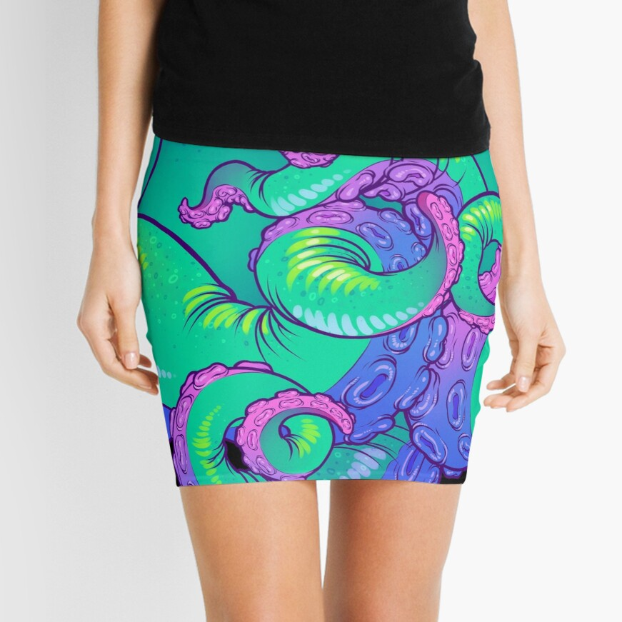 Cthulhu Tentacles Mini Skirt