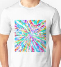 colorful splash painting abstract in pink blue green orange purple T-Shirt
