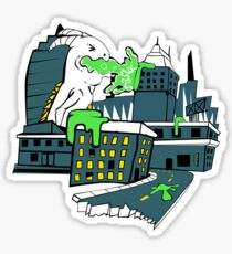 Destructive Vomit Monster Sticker