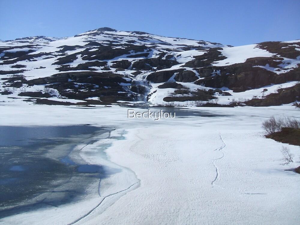 Frozen lake by Beckylou