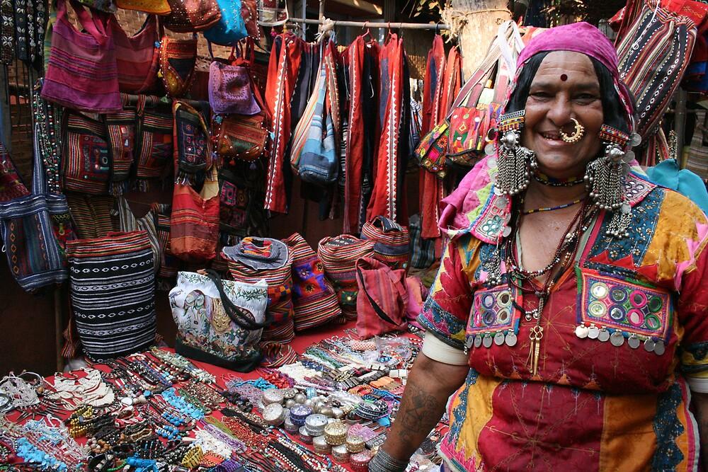 Stall owner, Anjuna Market, Goa, India by Thomas Entwistle