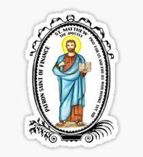 Saint Matthew Patron of Finance Sticker
