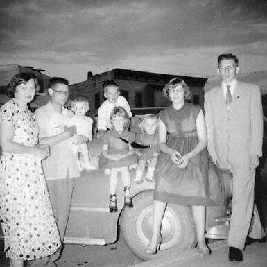 Family Snap Shot - around 1955 by Jamaboop