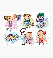 Sporty Kids Photographic Print