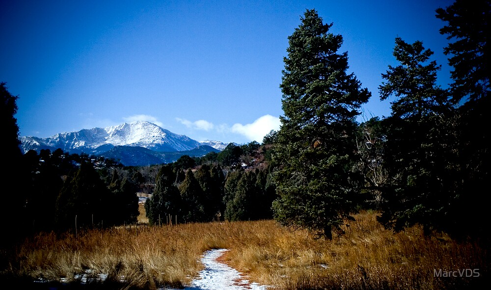 Pikes Peak From Garden of The Gods by MarcVDS