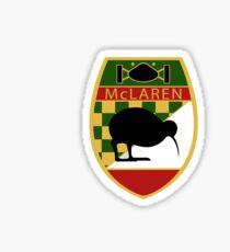 McLaren Kiwi Badge Distressed Sticker