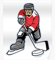 Hockey Player Poster