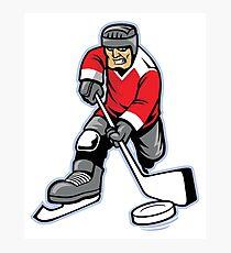 Hockey Player Photographic Print