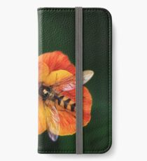 Insect on vibrant flower iPhone Wallet/Case/Skin