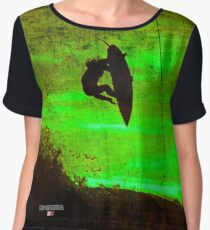 Surfing - Surfer X - Big Kahuna - Rusty Green Chiffon Top