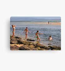 Beach Babes at Merimbula Canvas Print