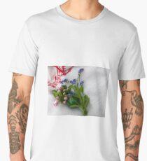 Green Easter Egg with Flowers Men's Premium T-Shirt