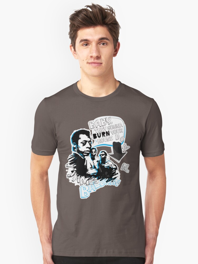 Go Tell it On The Mountain. James Baldwin. For dark fabric. Unisex T-Shirt Front