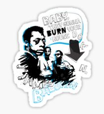 Go Tell it On The Mountain. James Baldwin. For dark fabric. Sticker